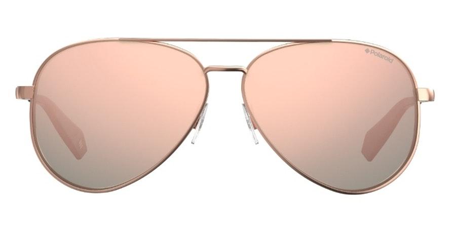 Polaroid Mirrored Aviator PLD 6069/S Women's Sunglasses Pink / Gold