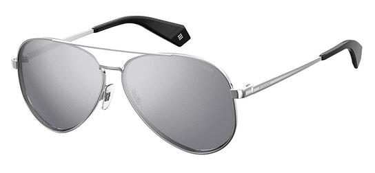 Mirrored Aviator PLD 6069/S Women's Sunglasses Silver / Silver