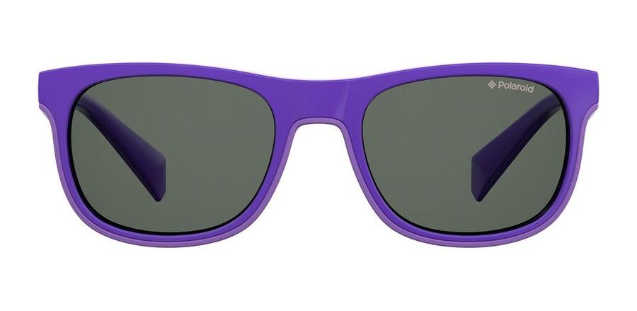 Polaroid Kids PLD 8035/S (B3V) Children's Sunglasses Grey / Violet