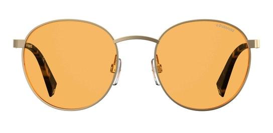 Round Pop PLD 2053/S Unisex Sunglasses Yellow / Orange