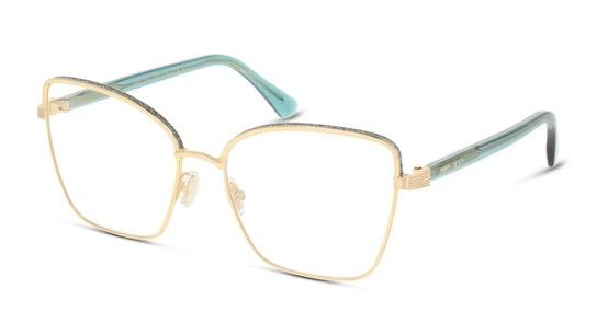 JC 266 (Large) Women's Glasses Transparent / Gold
