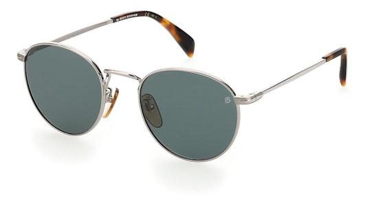 DB 1005/S Men's Sunglasses Green / Silver