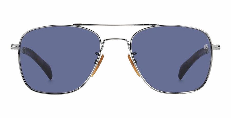 David Beckham Eyewear DB 7019/S (6LB) Sunglasses Blue / Silver