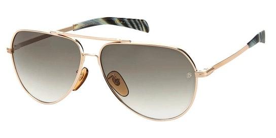 DB 7031/S Men's Sunglasses Green / Gold