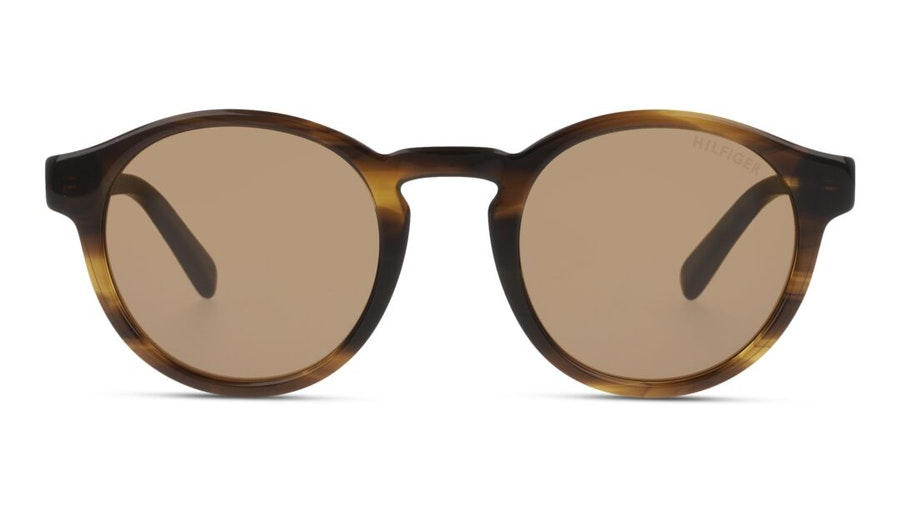 Tommy Hilfiger Bio-Based TH 1856/RE/S Men's Sunglasses Brown / Tortoise Shell