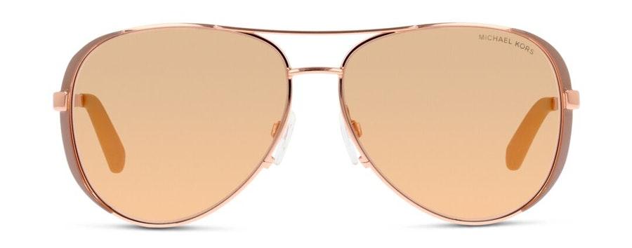 Michael Kors MK 5004 Women's Sunglasses Brown / Rose Gold