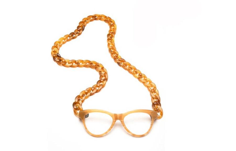 CotiVision Joen - Honey Necklace Reading Glasses Honey +2.50