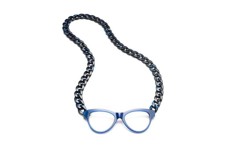 CotiVision Joen - Blue Necklace Reading Glasses Blue +2.50