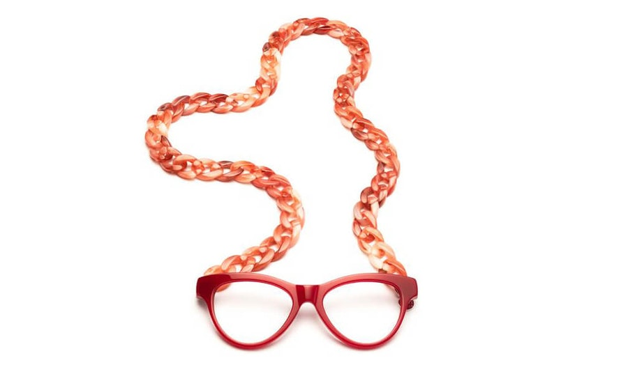 CotiVision Joen - Red Necklace Reading Glasses Red +1.00