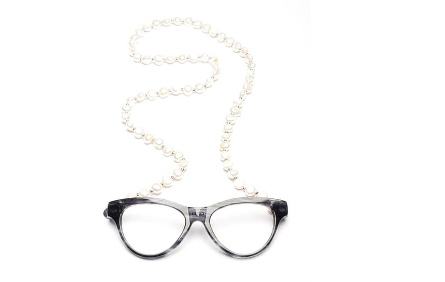 CotiVision Elements Pearls - Soft Grey Necklace Reading Glasses Grey +1.00