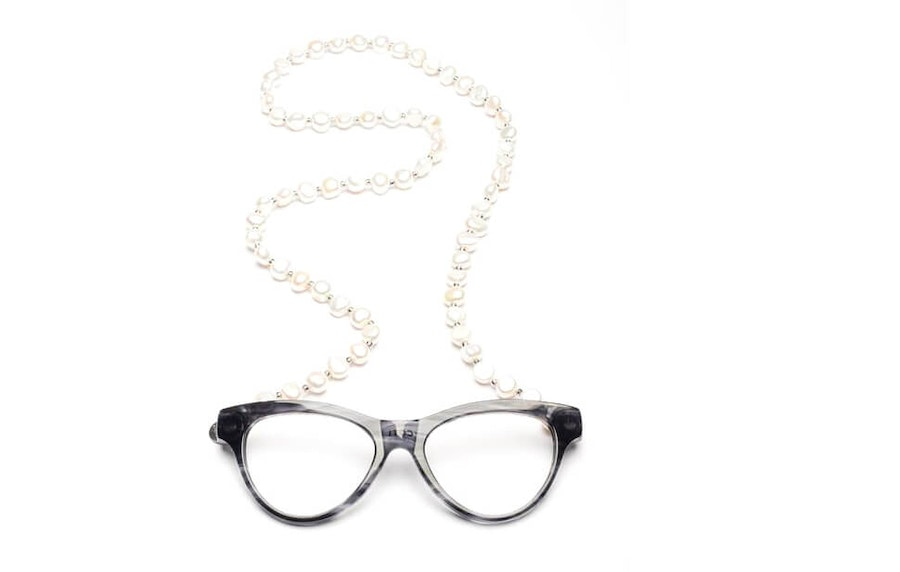 CotiVision Elements Pearls - Soft Grey Necklace Reading Glasses Grey +1.50