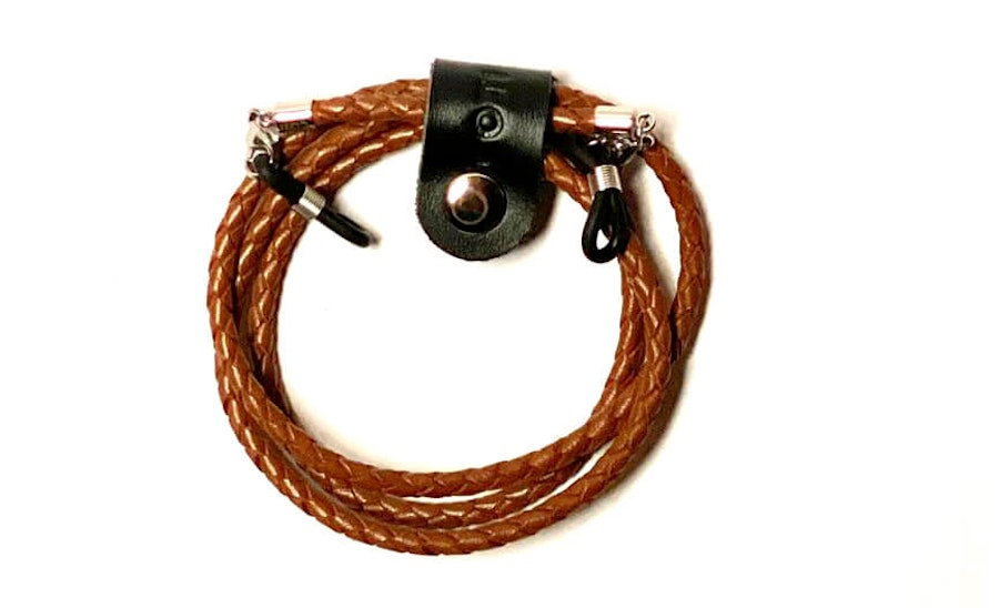 CotiVision Elements Bolo Leather Glasses Cord Dark Brown