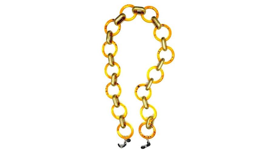 CotiVision Goddess Glasses Chain Amber Gold