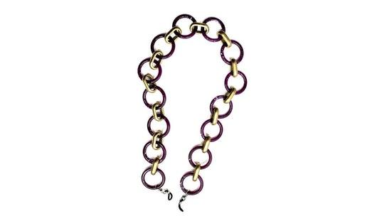 Goddess Glasses Chain Purple Gold