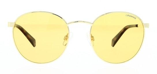 Round Pop PLD 2053/S Unisex Sunglasses Gold / Gold