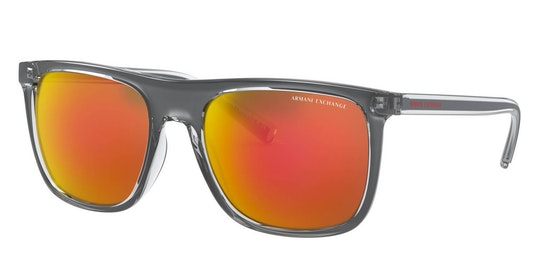 AX 4102S Men's Sunglasses Orange / Transparent