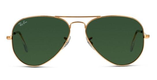 Aviator (55mm) RB 3025 Men's Sunglasses Grey / Gold