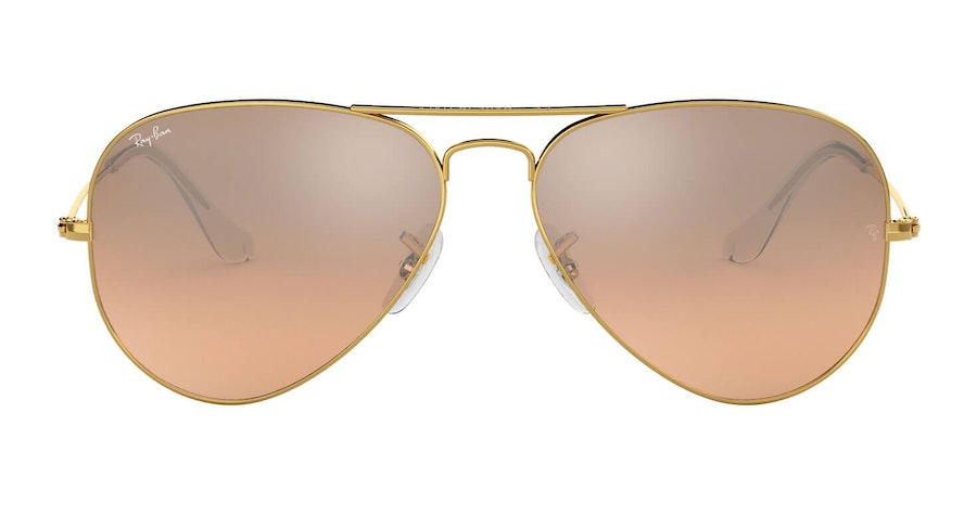 Ray-Ban Aviator RB 3025 Men's Sunglasses Pink/Gold