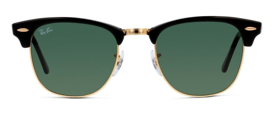 Ray-Ban Clubmaster RB 3016 (W0365) Sunglasses Green / Black