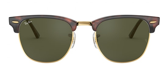 Clubmaster RB 3016 (W0366) Sunglasses Green / Tortoise Shell