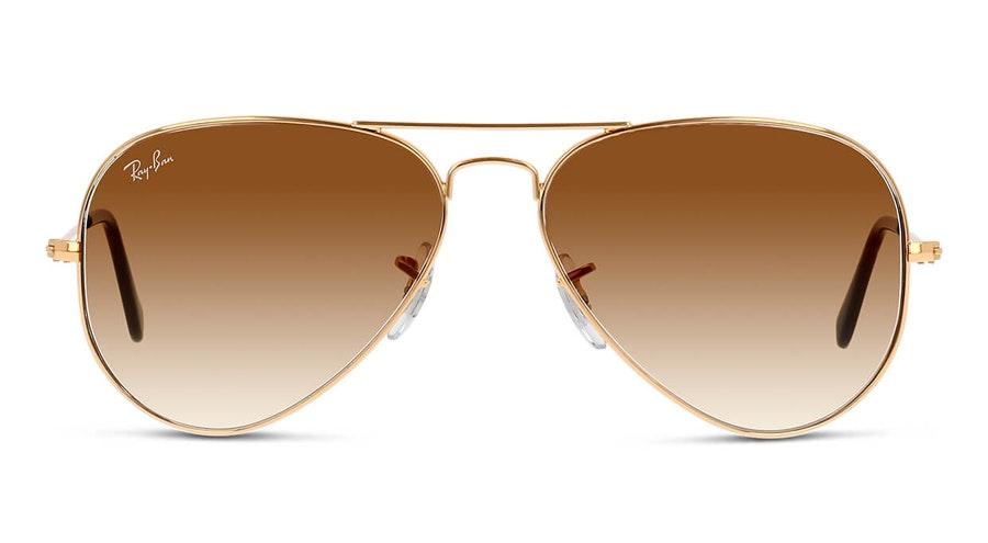 Ray-Ban Aviator Gradient RB 3025 Men's Sunglasses Brown / Gold