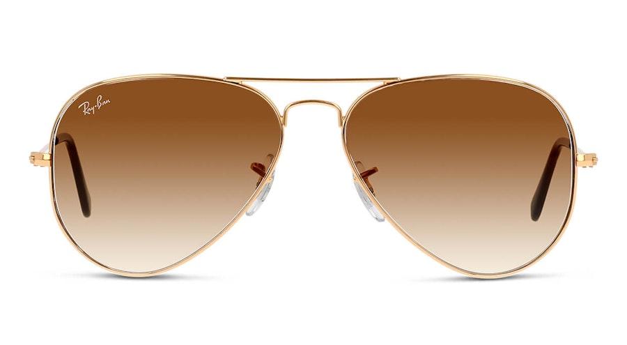 Ray-Ban Aviator Gradient RB 3025 Men's Sunglasses Brown/Gold
