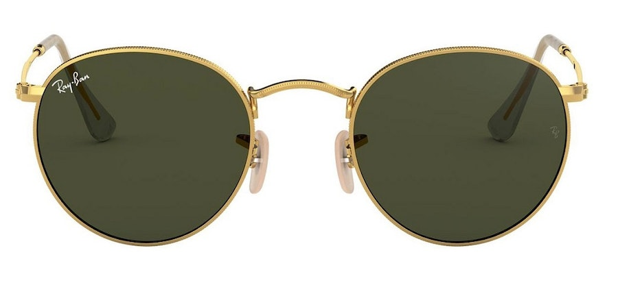 Ray-Ban Round RB 3447 (001) Sunglasses Green / Gold