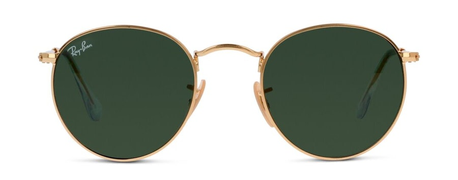 Ray-Ban Round Metal RB 3447 (001) Sunglasses Green / Gold