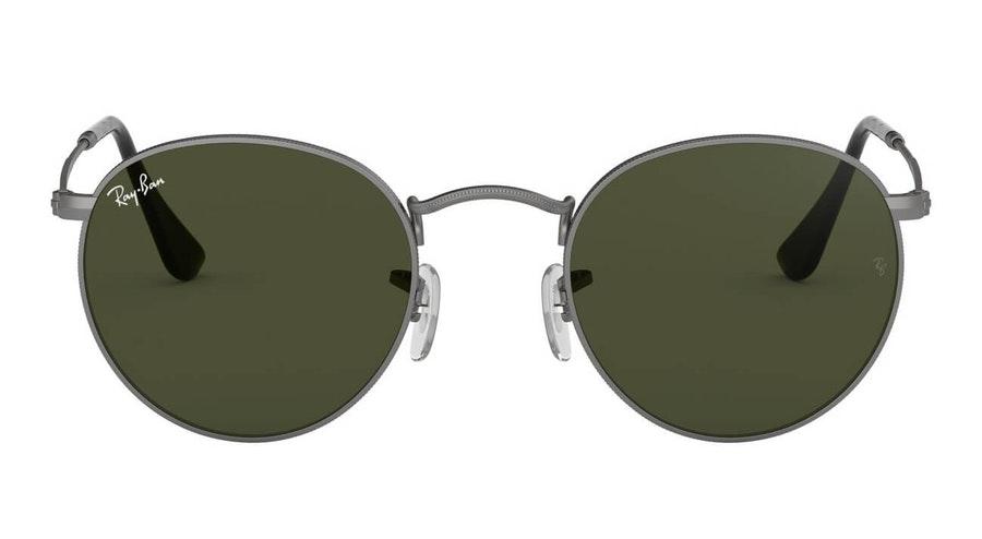 Ray-Ban Round Metal RB 3447 (029) Sunglasses Green / Grey