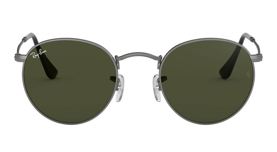 Ray-Ban Round Metal RB 3447 Men's Sunglasses Green/Grey