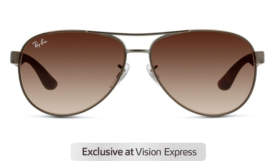 Ray-Ban RB 3457 Unisex Sunglasses Brown / Silver