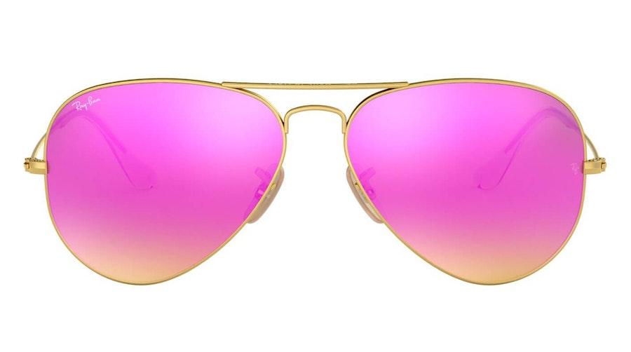 Ray-Ban Aviator RB 3025 Men's Sunglasses Pink/Gold
