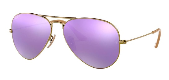 Aviator RB 3025 Men's Sunglasses Violet / Bronze