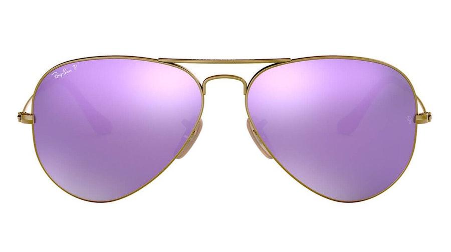 Ray-Ban Aviator RB 3025 Men's Sunglasses Violet / Bronze
