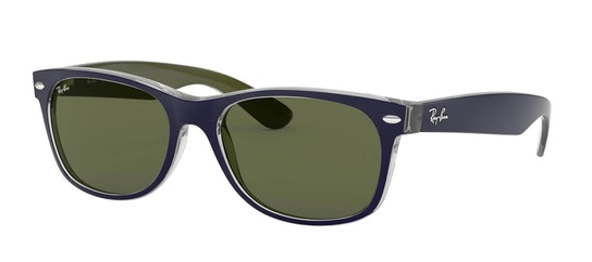 New Wayfarer RB 2132 (6188) Sunglasses Green / Green