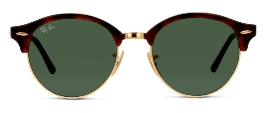 Ray-Ban Clubround RB 4246 Unisex Sunglasses Green / Gold