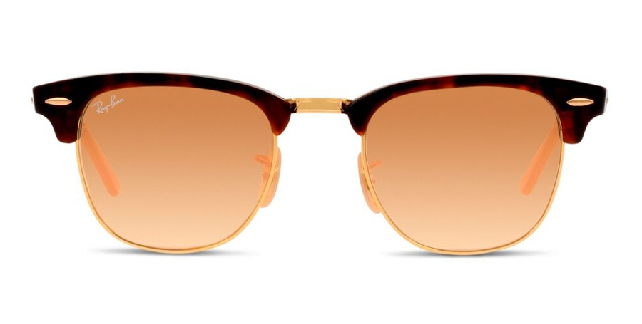 Ray-Ban Clubmaster RB 3016 Men's Sunglasses Orange/Havana