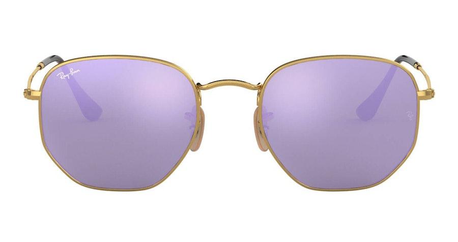 Ray-Ban Hexagonal RB 3548N (001/8O) Sunglasses Violet / Gold