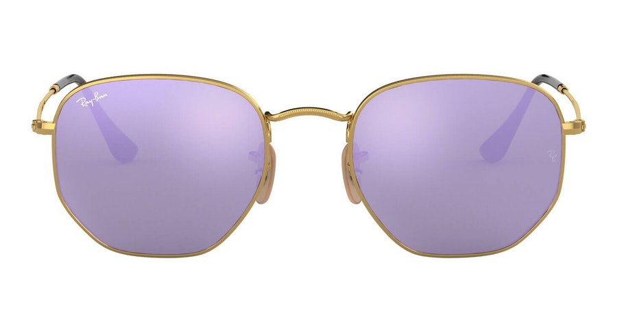 Ray-Ban Hexagonal RB 3548N Men's Sunglasses Violet/Gold