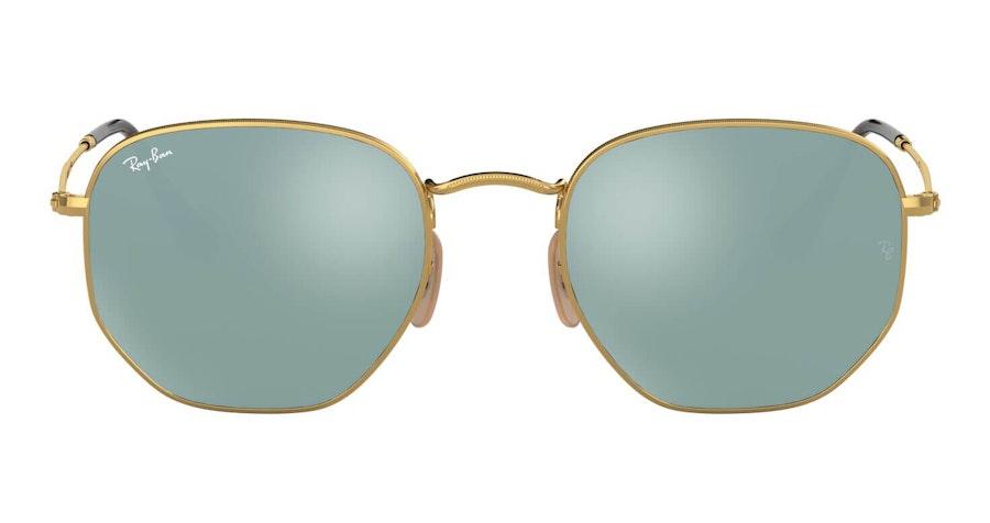 Ray-Ban Hexagonal RB 3548N Men's Sunglasses Bronze / Gold
