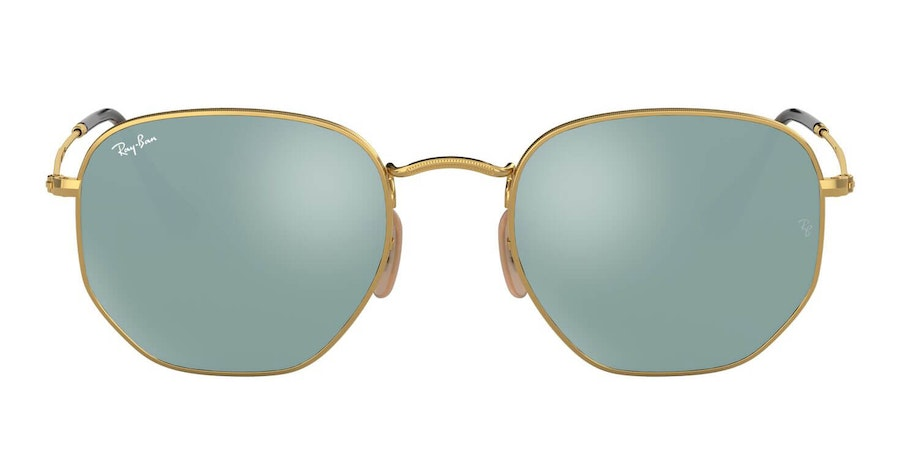 Ray-Ban Hexagonal RB 3548N Men's Sunglasses Bronze/Gold