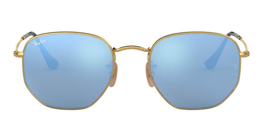 Ray-Ban Hexagonal RB 3548N Men's Sunglasses Blue / Gold
