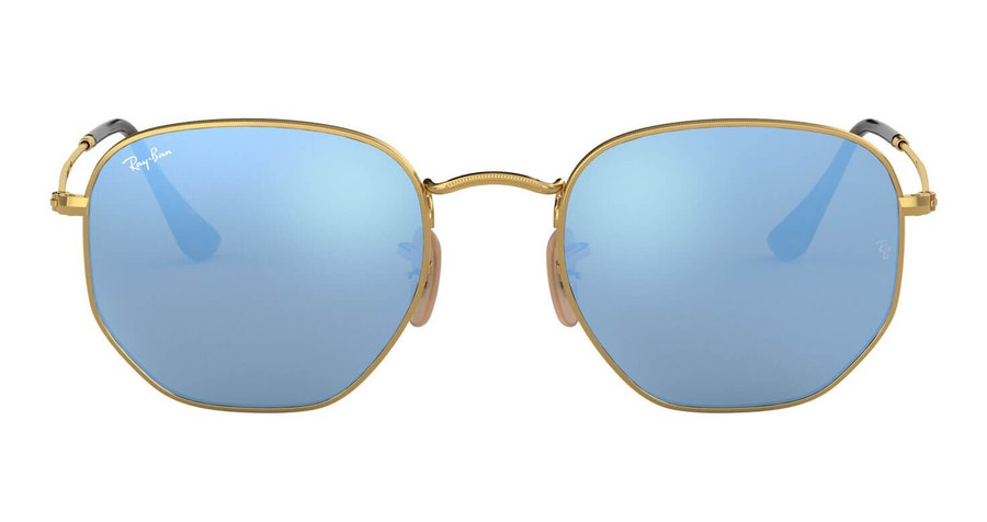 Ray-Ban Hexagonal RB 3548N Men's Sunglasses Blue/Gold