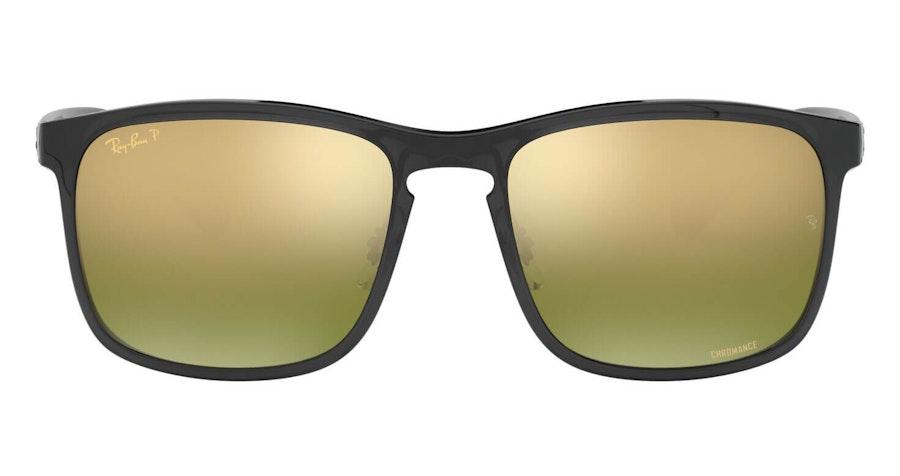 Ray-Ban RB 4264 (876/6O) Sunglasses Gold / Grey