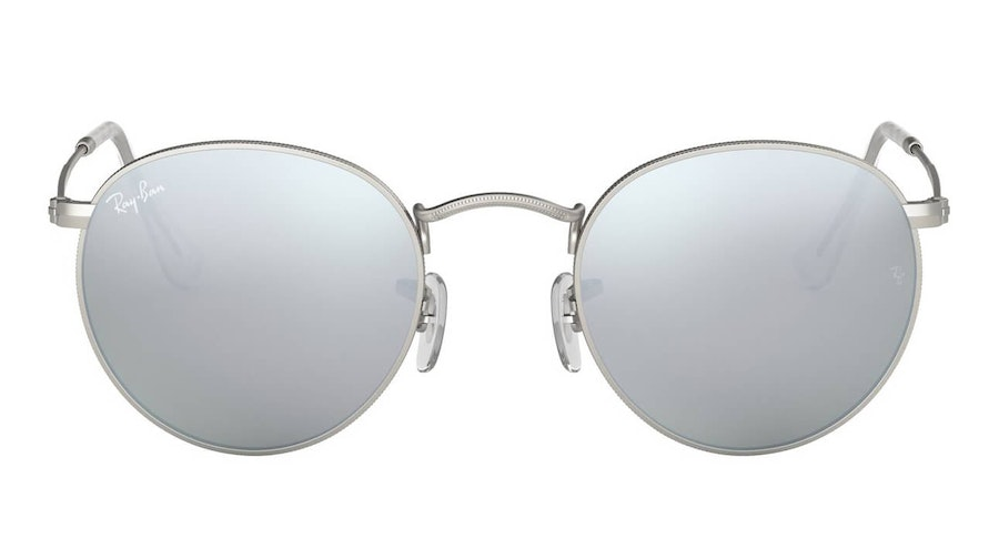 Ray-Ban Round Metal RB 3447 Men's Sunglasses Silver/Silver