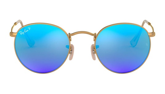 Round Metal RB 3447 Men's Sunglasses Blue / Gold