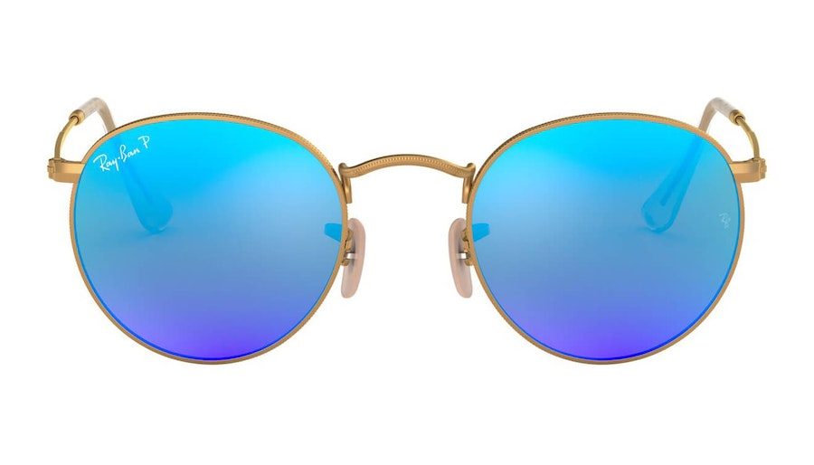Ray-Ban Round Metal RB 3447 Men's Sunglasses Blue/Gold