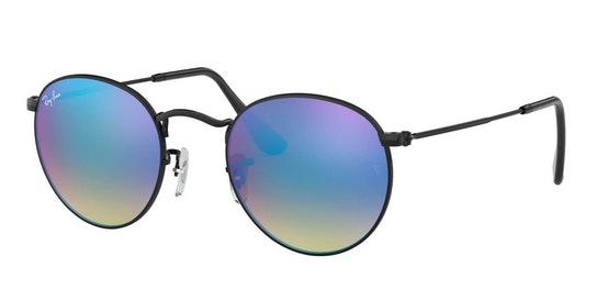 Round Metal RB 3447 Men's Sunglasses Blue / Black