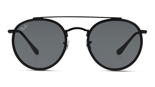 Round Double Bridge RB 3647N Men's Sunglasses Blue / Black