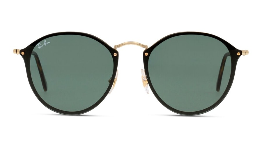Ray-Ban Blaze Round RB 3574N Men's Sunglasses Green/Gold